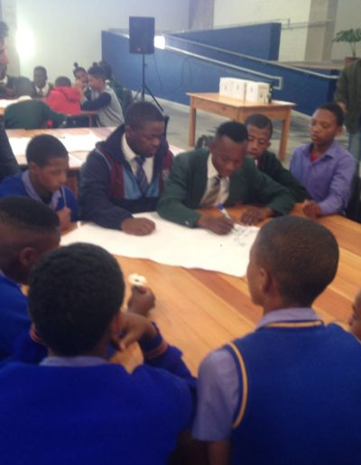Boys dialogue with Executive Mayor