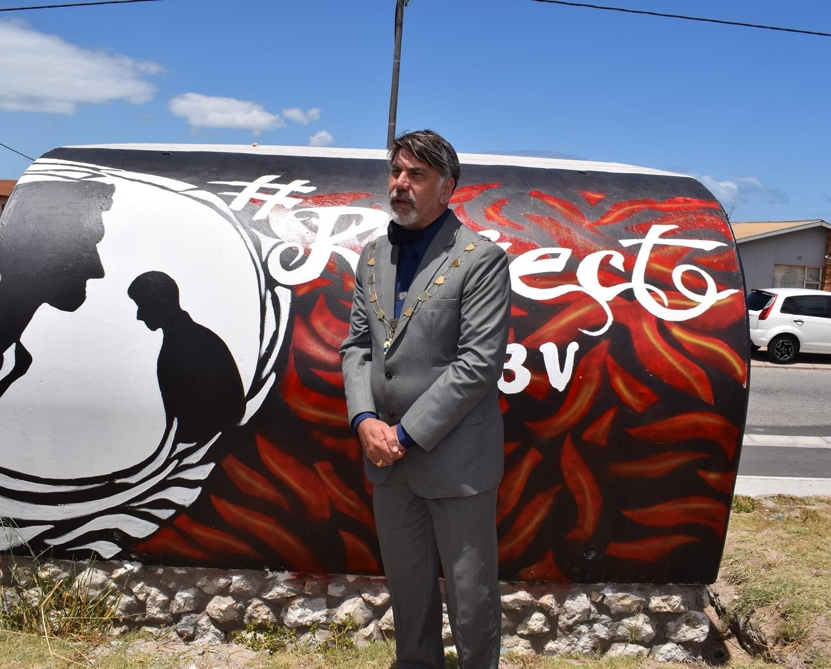 25-11-20 Executive Mayor Koen GBV mural
